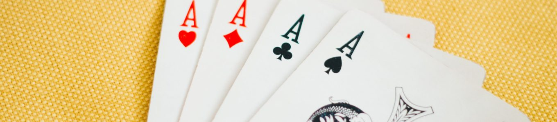 Spielkarten vier Asse