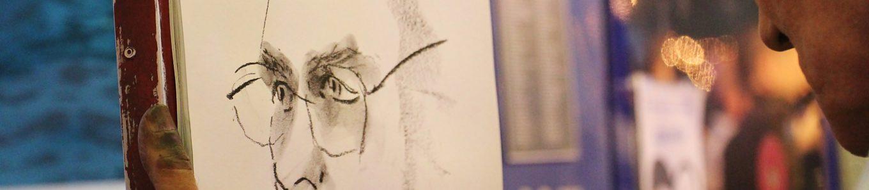 Kohlezeichnung Portrait